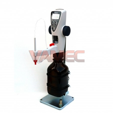 Digital burette volume control complete of accessories