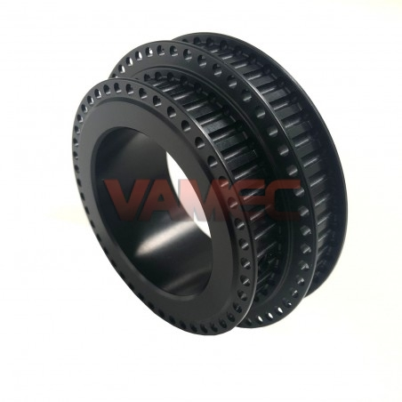 Double toothed water pump pulley