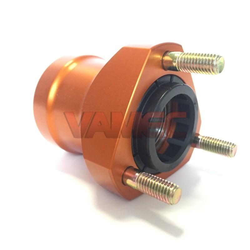 Aluminium front wheel hub D.25x65mm