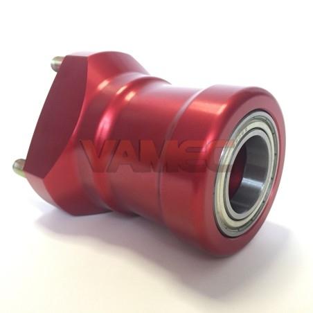 Aluminium front wheel hub D.25x80mm
