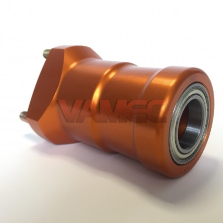 Aluminium front wheel hub  D.25x100mm