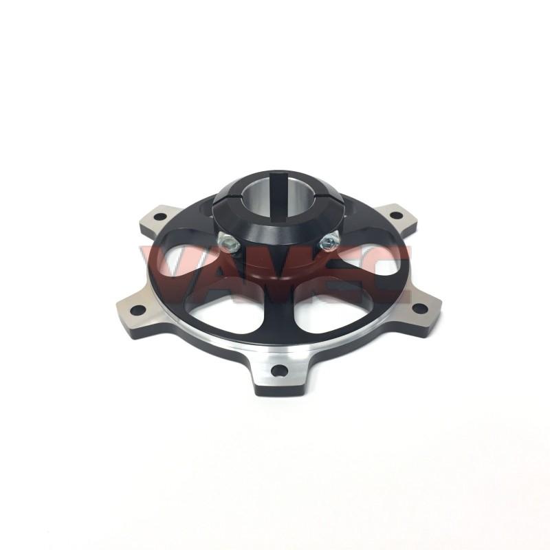 Portacorona in alluminio D.30x116mm CH6/8mm