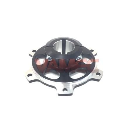 Portacorona / Portadisco in alluminio D.30X100mm CH6/8mm
